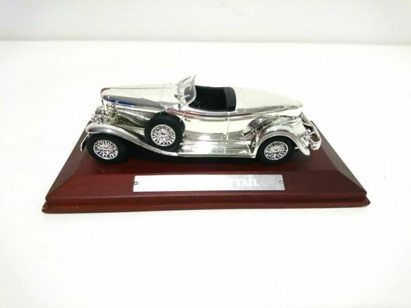 Auto Da Leggenda - Silver Chrome Cars Collection - Auburn Boat Tail